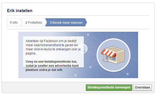 FB stap 3 bereik meer mensen
